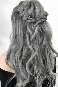 Sliver Grey Curly Synthetic Wigs