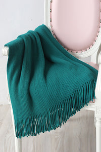 Thick Stripe Tassels Blanket
