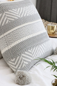 Geometry Tassels Cushion Cover