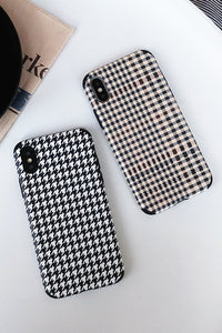 Houndstooth Print Phone Case