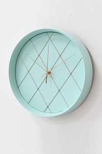 Mint Green Round Wall Clock (12 Inch)