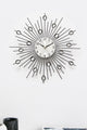 Rhinestone Metal Wall Clock