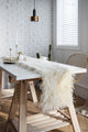 Nordic Faux Fur Table Runner