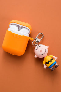 Cartton Airpods Case With Keychain