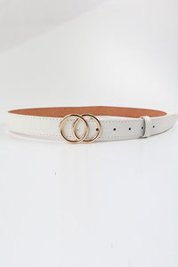Double O-Ring Skinny Belt