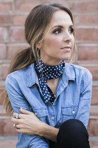 Dot Print Neck Scarf