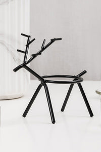 Iron Art Deer Candlestick