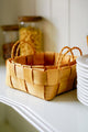 Wood Square Storage Basket