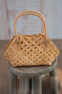 Straw Hand Flower Basket