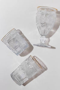 Gold Platting Glass Cup