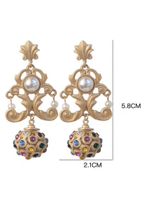Baroque Pearl Hollow Earring