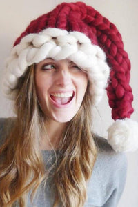 Christmas Wool Knitted Soft Cap