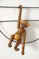 Rotatable Wood Monkey Decorate
