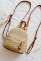 Bohemian Straw Backpack