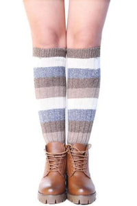 Colro Block Stripe Leg Warms