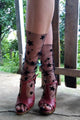 Snow Star Tulle Socks