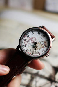 Vintage Map Watch