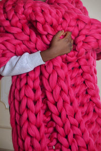 Braid Woolen Knit Blanket