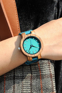 Wood Leather Watch