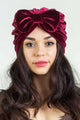 Bow Stretch Velvet Turban