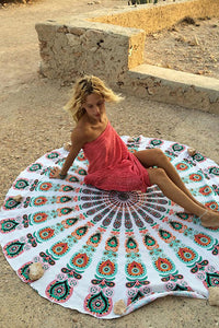 Qwl Print Beach Towel
