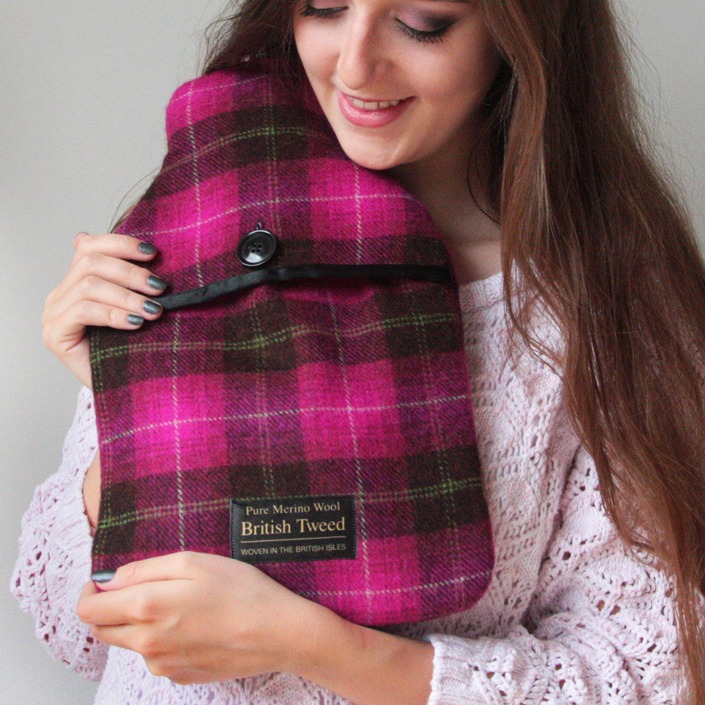 Luxurious Tweed Hot Water Bottles and Microwave Body Wraps