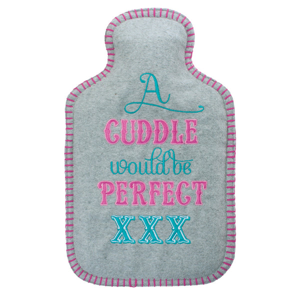 A Perfect Cuddle Felt Hot Water Bottle