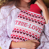 True Love Knitted Hot Water Bottle