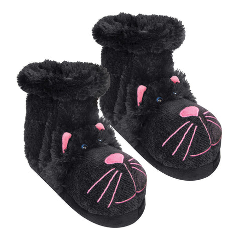 Black Cat Fun For Feet Slipper Socks