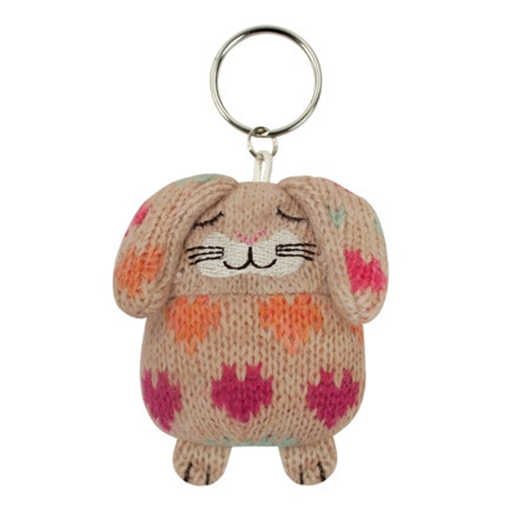 Knitted Rabbit Key Ring