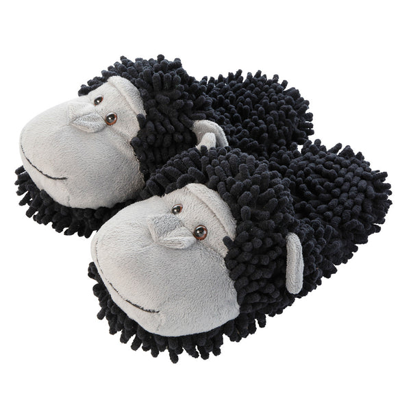 Chimpanzee Fuzzy Friends Slippers