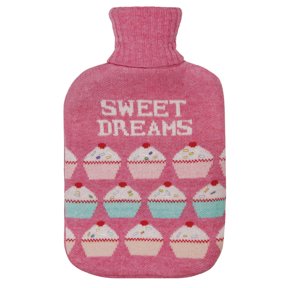 Cupcake Knitted Hot Water Bottle