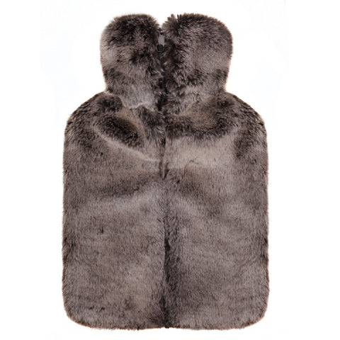 Luxury Brown Faux Fur Hot Water Bottle