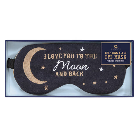 'To the Moon and Back' Felt Eye Mask