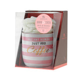 'Just Add Coffee' Ceramic Mug and Cosy Socks Gift Set