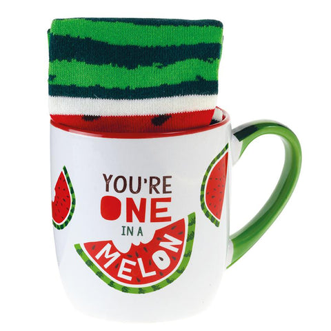 You're One in a Melon Mug & Socks Set