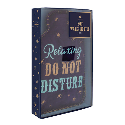 'Relaxing, Do Not Disturb' Felt Hot Water Bottle