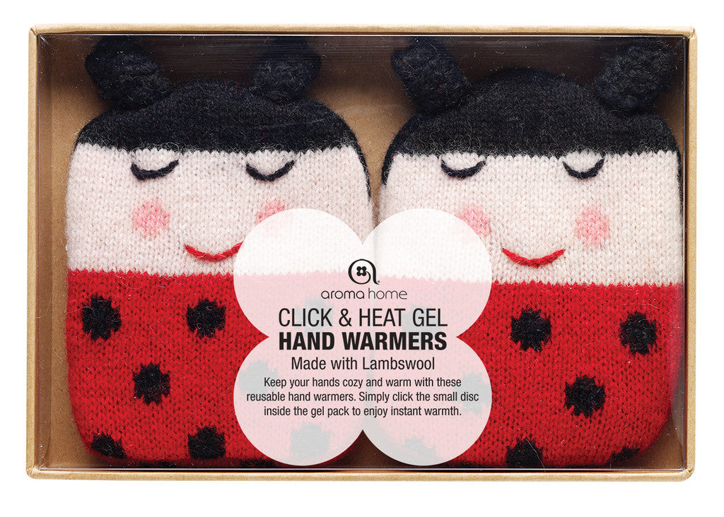 Ladybird Knitted Hand Warmers