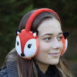 Red Fox heated Knitted Ear Muffs
