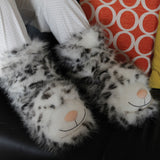 Snow Leopard Fun For Feet Slipper Socks