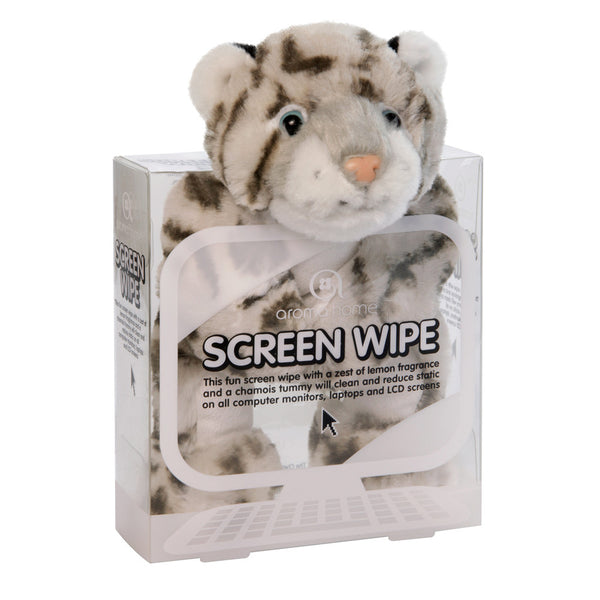 Snow Leopard Novelty Screen Wipe