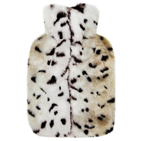 Luxury Leopard Effect Faux Fur Hot Water Bottle