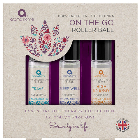 100% Essential Oil Blends 'On the Go' Rollerball Set