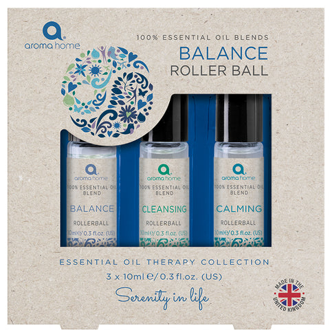 100% Essential Oil Blends 'Balance' Rollerball Set