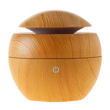 USB Light Wood Effect Diffuser with 2 x 9ml Essential Oils