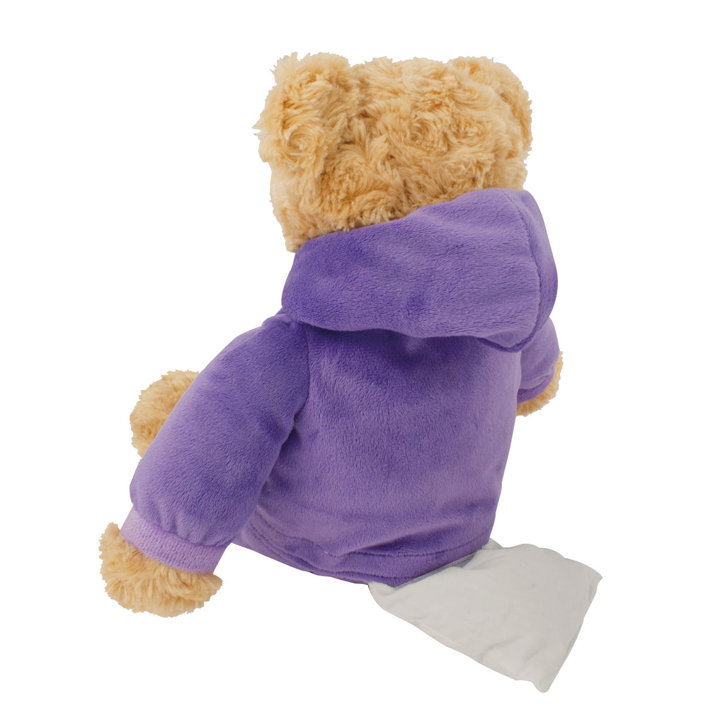 Purple Onesie Microwave Teddy Bear