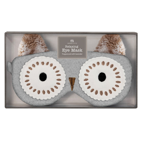 Brown Owl Knitted Eye Mask