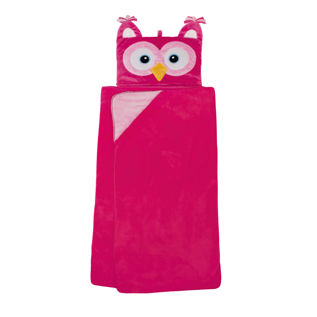 Pink Owl Cosy Up Hooded Blanket