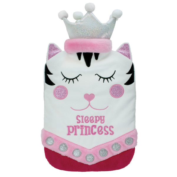 Sleepy Princess Fleece Hot Water Bottle