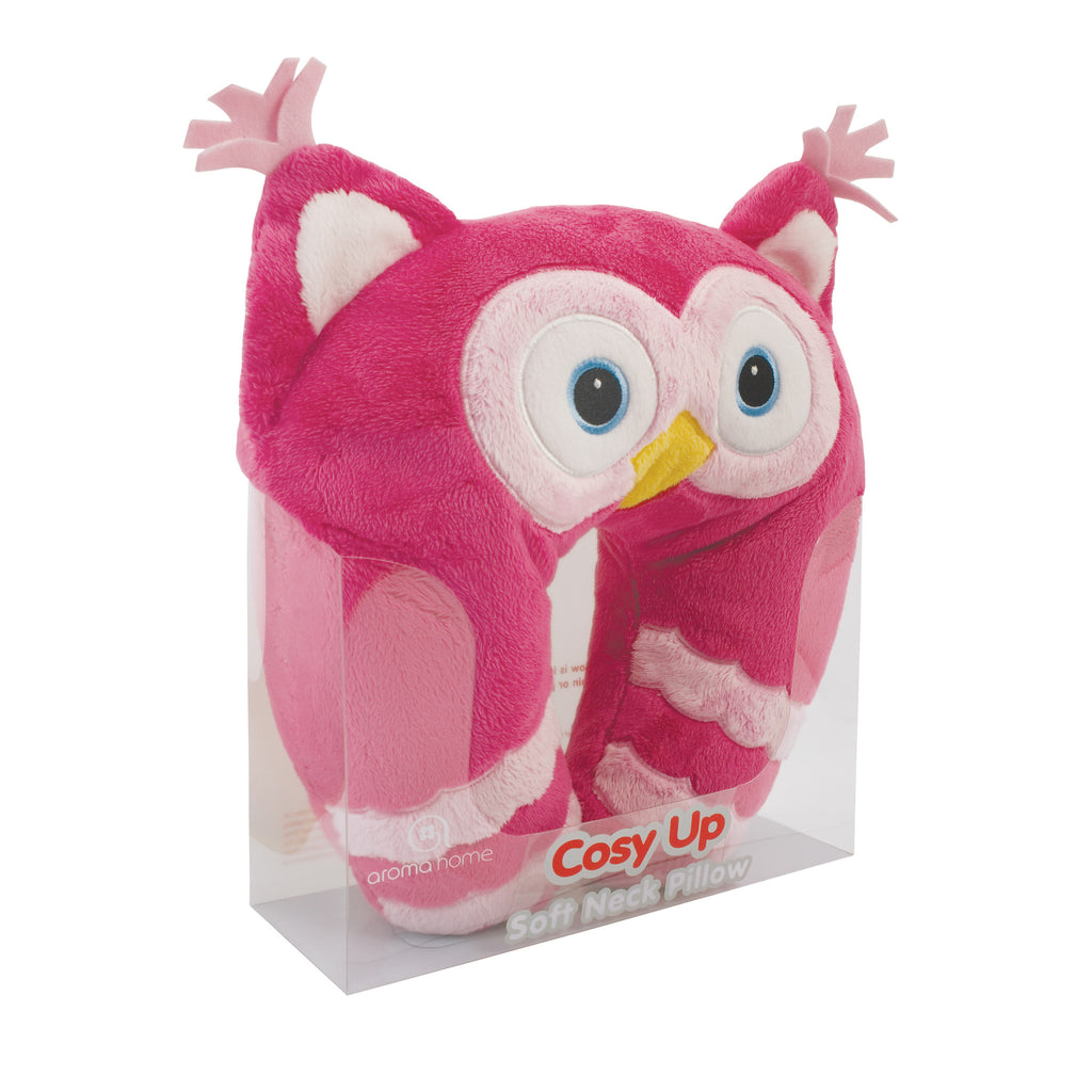 Pink Owl Cosy Up Neck Pillow